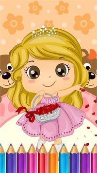 Sweet Little Girl ColoringBook screenshot 5