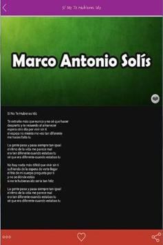 Top Marco Antonio Solís Letras apk screenshot