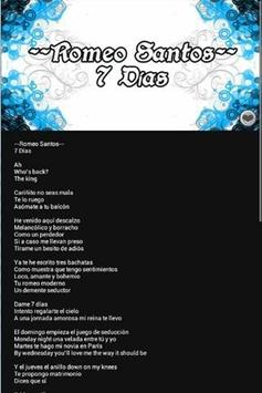 Top Romeo Santos Letras apk screenshot