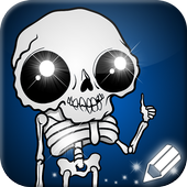 How to Draw Creepy Skeletons and Skulls icon