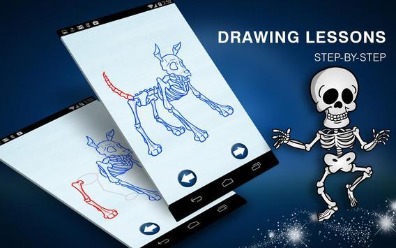 How to Draw Creepy Skeletons and Skulls screenshot 4