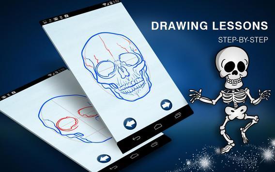 How to Draw Creepy Skeletons and Skulls screenshot 8
