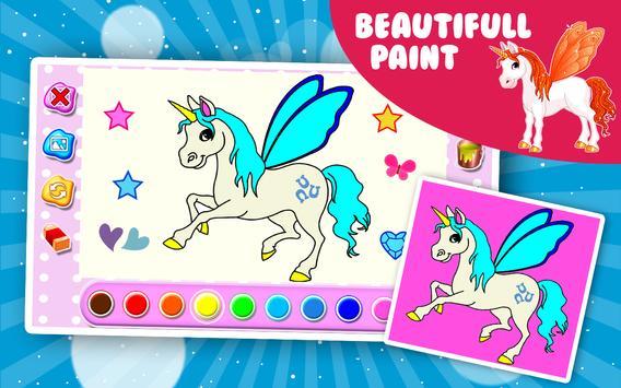 Unicorn coloring book poster