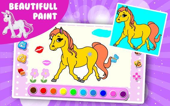 Unicorn coloring book apk screenshot