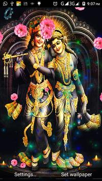 Radha Krishna Live HD 3D Wallpaper Poster