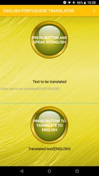English To Portuguese Voice Translator poster