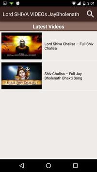 Lord SHIVA VIDEOs JayBholenath apk screenshot