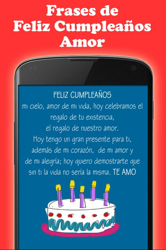 Frases Feliz Cumpleanos Amor For Android Apk Download