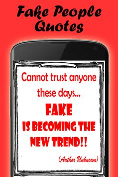 Quotes about fake people apk screenshot