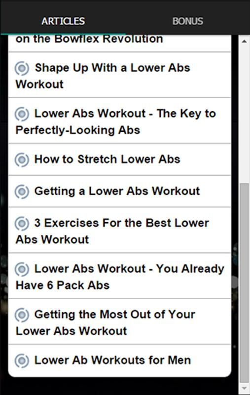 Lower Abs Workout For Men Apk Screenshot