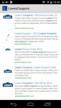 Lowes Coupons poster