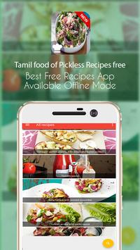Tamil food of Pickless Recipes free poster