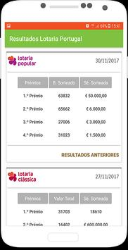 Resultados Lotaria Portugal screenshot 2
