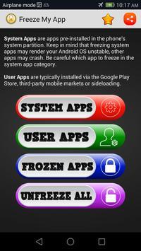 App Freeze (root) screenshot 4