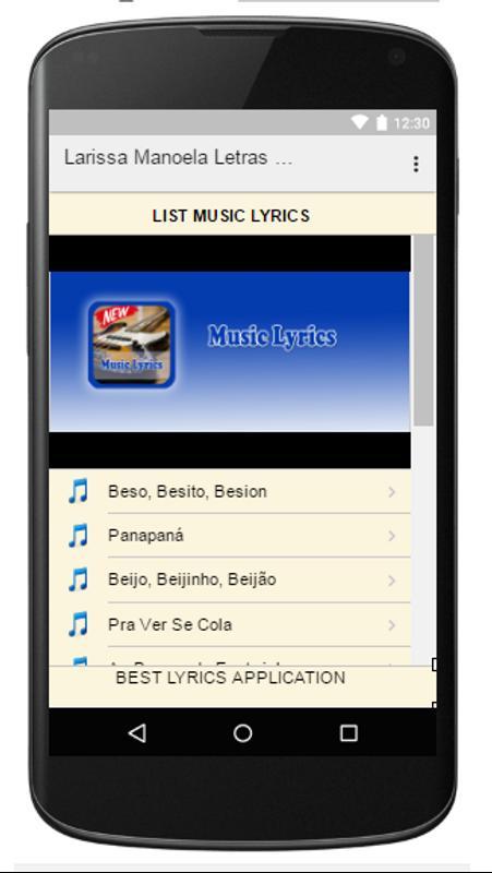 Larissa Manoela Letras Musica para Android - APK Baixar ac23ec80d5