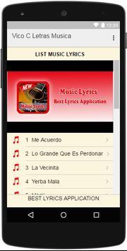 Vico C Letras Musica poster