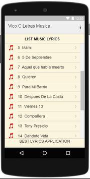 Vico C Letras Musica apk screenshot