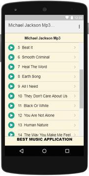 Michael Jackson Mp3 Music screenshot 1