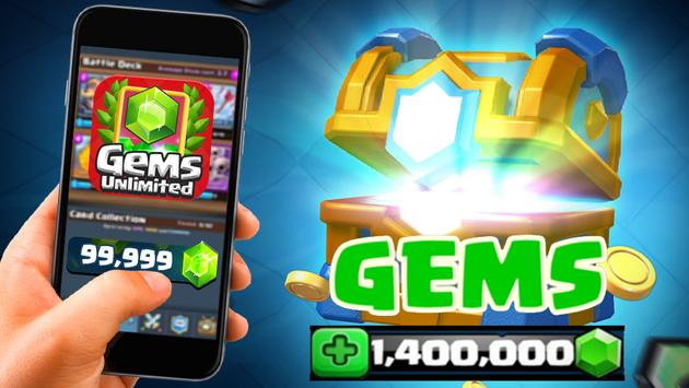 Gems Of Chest Clash Royale Free poster