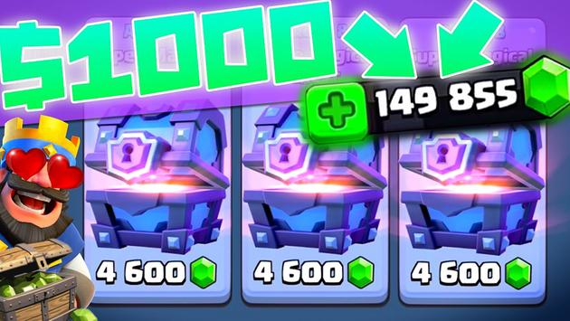 Gems & Chest for Clash Royale New постер
