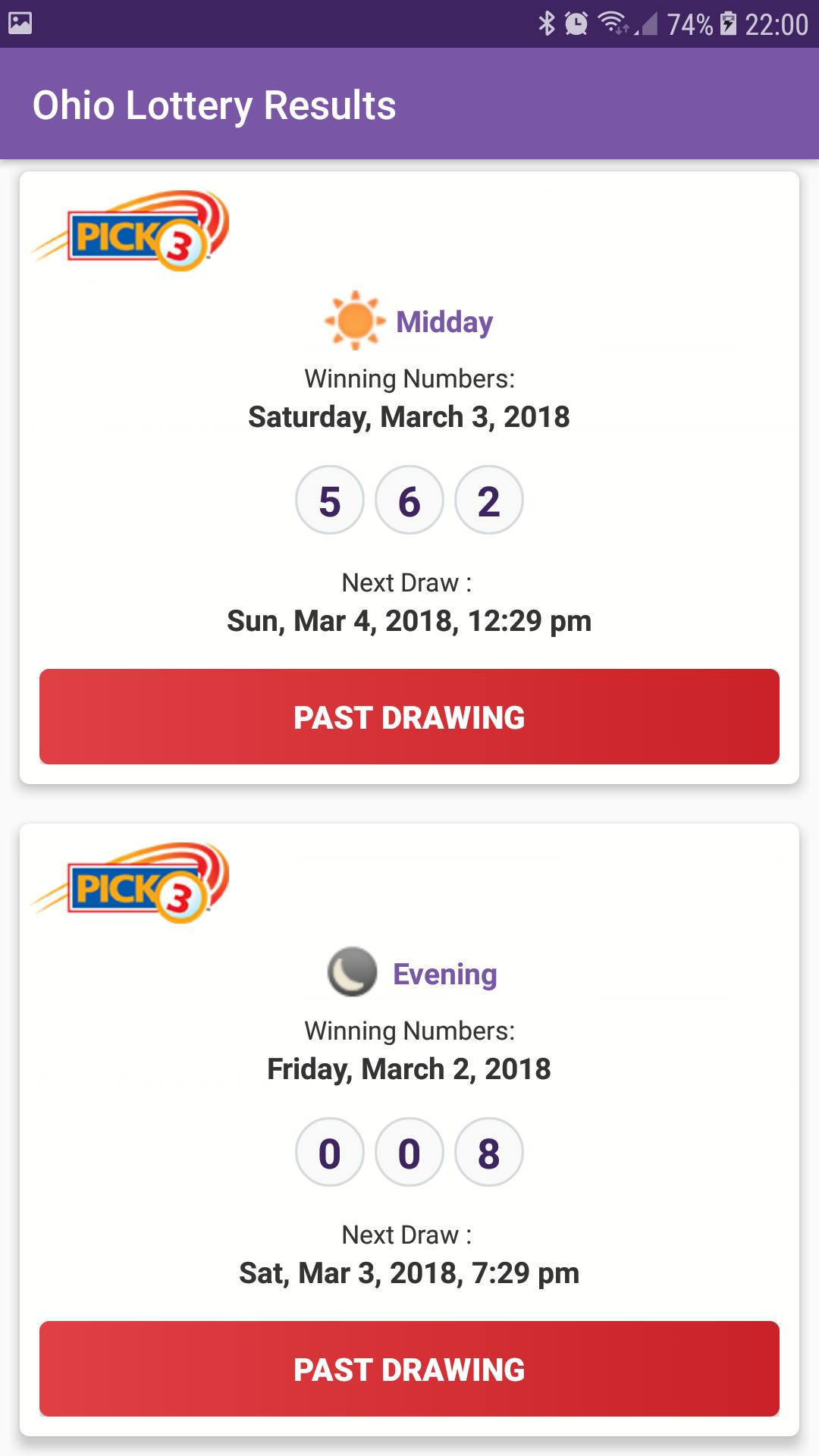Ohio Lottery Results For Android Apk Download