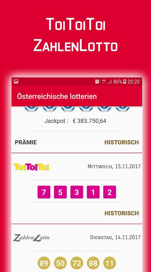 österreichische Lottozahlen