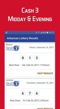 Arkansas Lottery Results screenshot 2