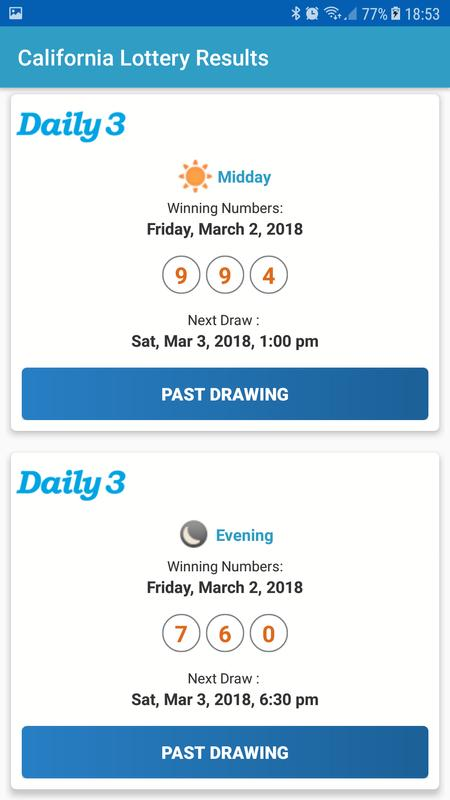 california lottery results for android - apk download