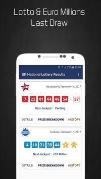 UK National Lottery Results poster