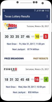 Texas Lottery Results poster