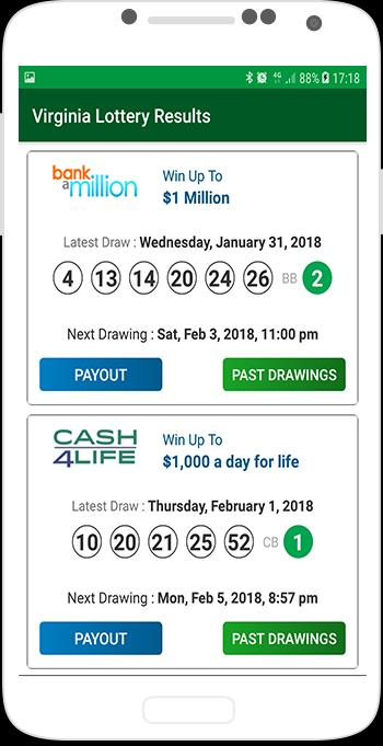 Virginia Lottery Results for Android - APK Download