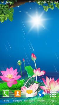 Lotus Rain Live Wallpaper apk screenshot