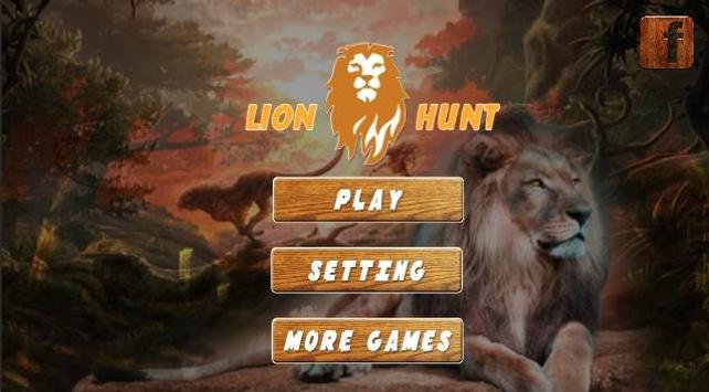 Lion Hunt 3D poster