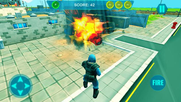 Commando on front line!! Killing with guns' game screenshot 1