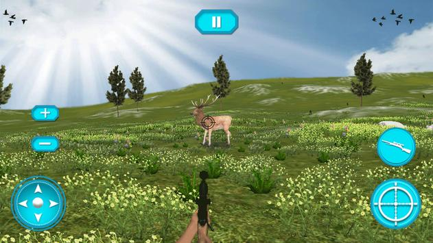 Real Deer hunting 3D game poster