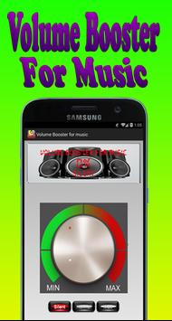 Volume Booster for music poster