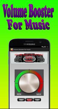 Volume Booster for music apk screenshot