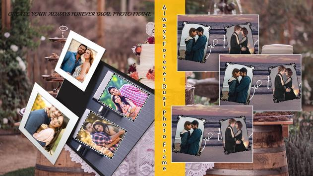 Always Forever Dual Photo Frame poster