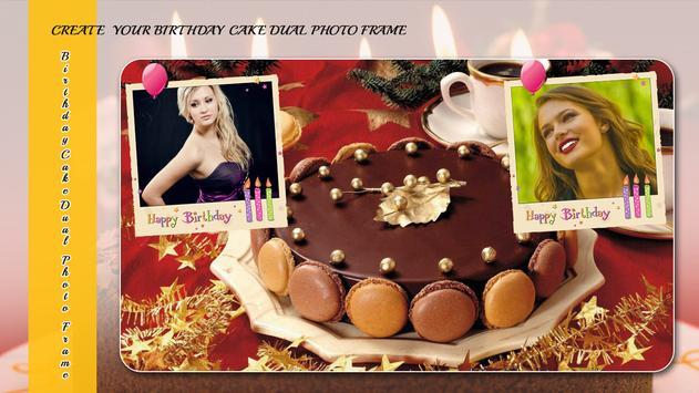 Birthday Cake Dual Photo Frame screenshot 2