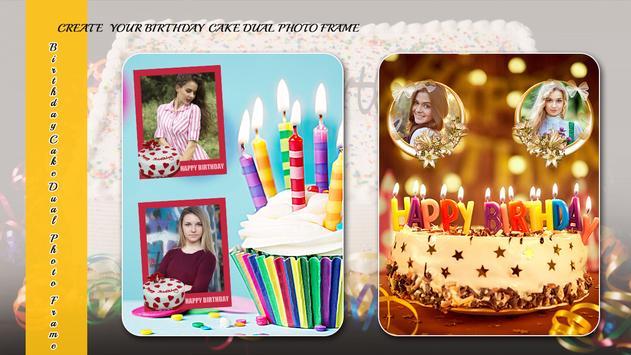 Birthday Cake Dual Photo Frame screenshot 3