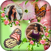 Butterfly Dual Photo Frame icon