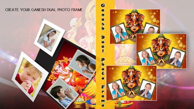 Ganesh Dual Photo Frame poster