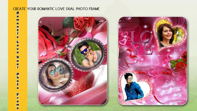 Romantic Love Dual photo Frame screenshot 3