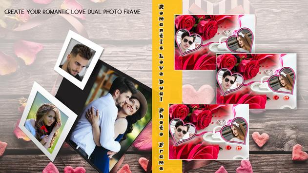 Romantic Love Dual photo Frame poster