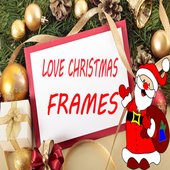 Christmas love frames icon
