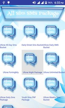 All Sim SMS Packages Pakistan apk screenshot
