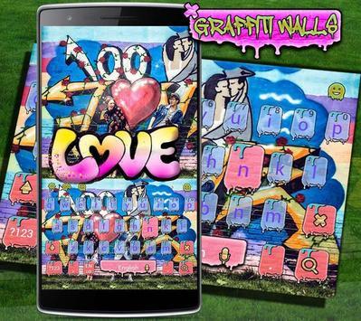 Love Kiss Graffiti Keyboard theme poster