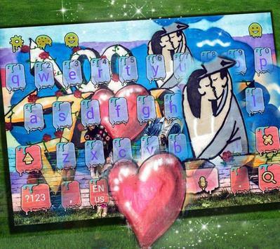 Love Kiss Graffiti Keyboard theme screenshot 1