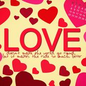 رسالة حب Lwp أيقونة