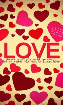 رسالة حب Lwp الملصق